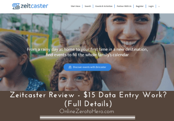 Zeitcaster Review – $15 Data Entry Work? (Full Details)