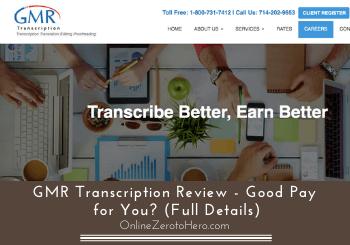 GMR Transcription review header