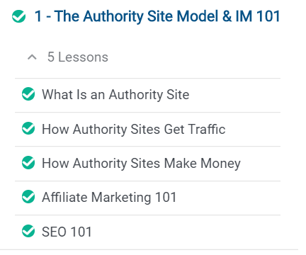 authority site system module 1 overview