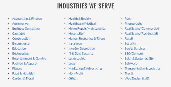 verblio industry clients