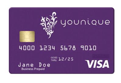 younique prepaid visa