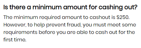 influencersearn payout conditions
