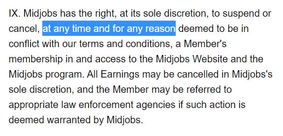 midjobs cancellation terms